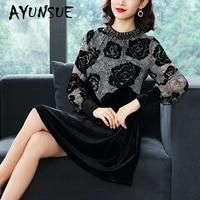 spring autumn dress women clothes 2020 print floral dress party dress vintage dress elegant vestidos robe femme hal296005 yy2464