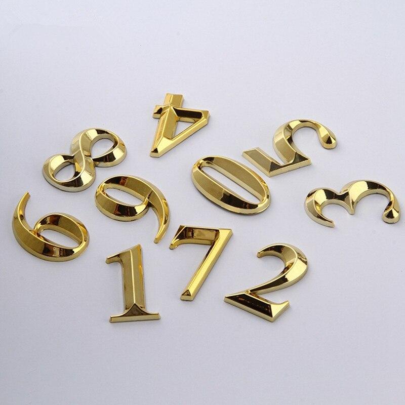 1 pieza puerta dígitos 0 a 9 Número de plástico Etiqueta número placa puerta casa cajón signo Enchapado Hotel hogar etiqueta de la puerta