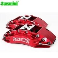 savanini front big 6 pot brake caliper with 380mm 400mm disc forged aluminum alloy 2 pcs