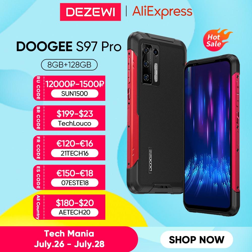 Глобальная версия DOOGEE S97 Pro 8500 мА/ч, 33 Вт быстрой зарядки 40m лазерный дальномер 48MP Quad Camera Helio G95 Octa Core 8 ГБ + 128 ГБ
