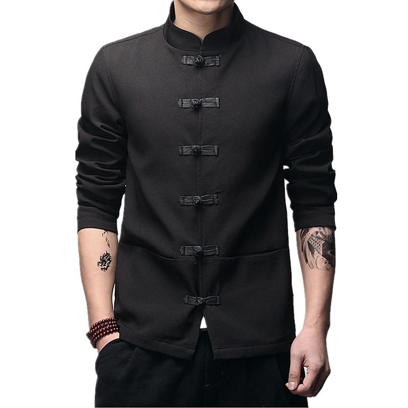 2020 النمط الصيني الرجال سترة موضة الأعمال الترفيه الذكور معطف مريح Jaqueta الوقوف طوق كبير الحجم S-5XL علوية