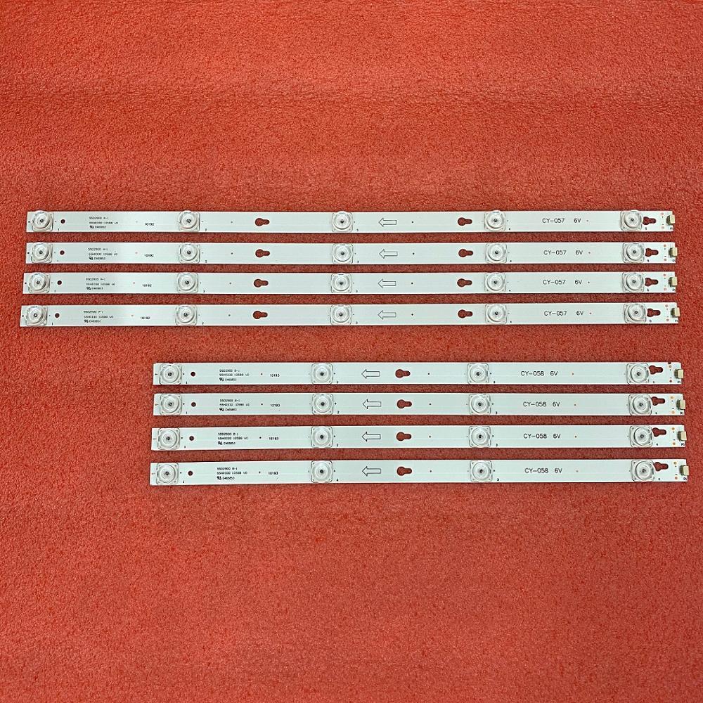 LED الخلفية قطاع (8) ل TCL L55S4900FS L55S4900 TOT 55D2900 L55P2 L55E5800A 55S403 55S405 55S401 U55P6006 55UC6426 4C-LB5504