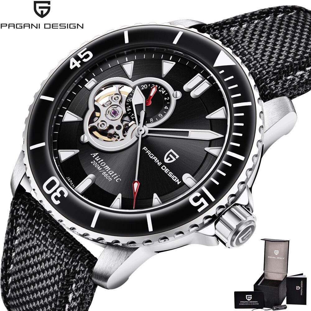 PAGANI تصميم الرجال الساعات الميكانيكية ساعة للرجال الفاخرة اليابان NH39 التلقائي ساعة الرجال 200 متر مقاوم للماء Reloj Hombre XFCS جديد