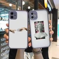 great art aesthetic david mona lisa phone case matte transparent for gray iphone 7 8 x xs xr 11 12 pro plus max mini funda clear