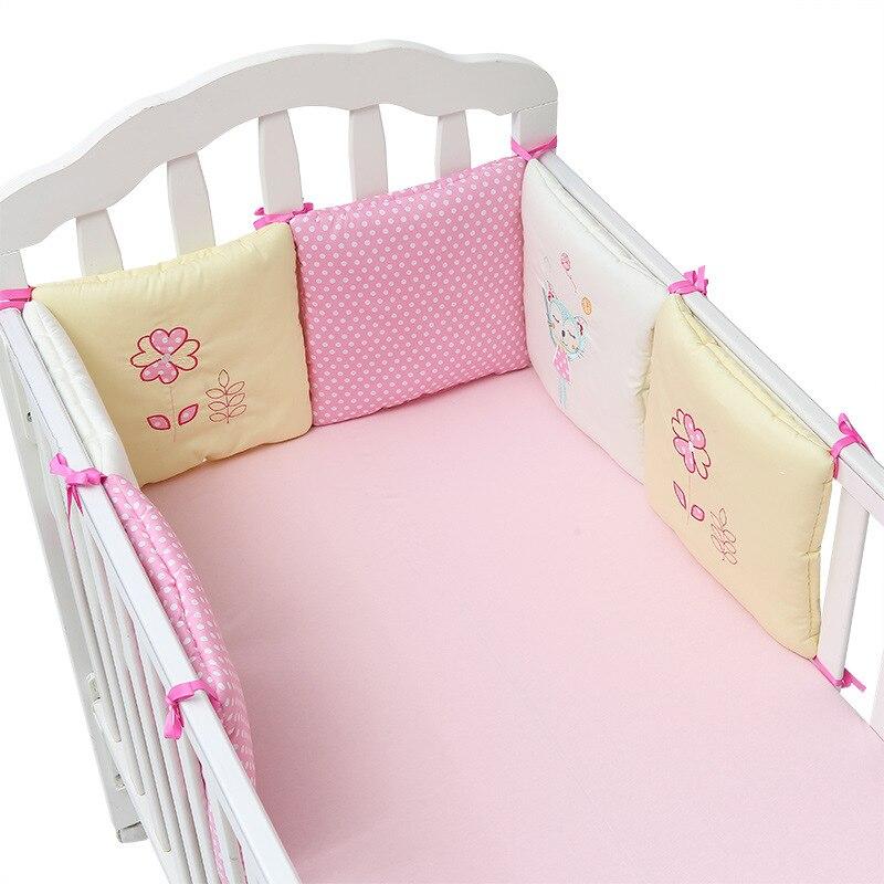 Детская кроватка постельное белье-бампер, 6 шт., детская безопасная хлопковая кроватка, бамперы, детская мягкая подушка, детский Декор, 30*30 см