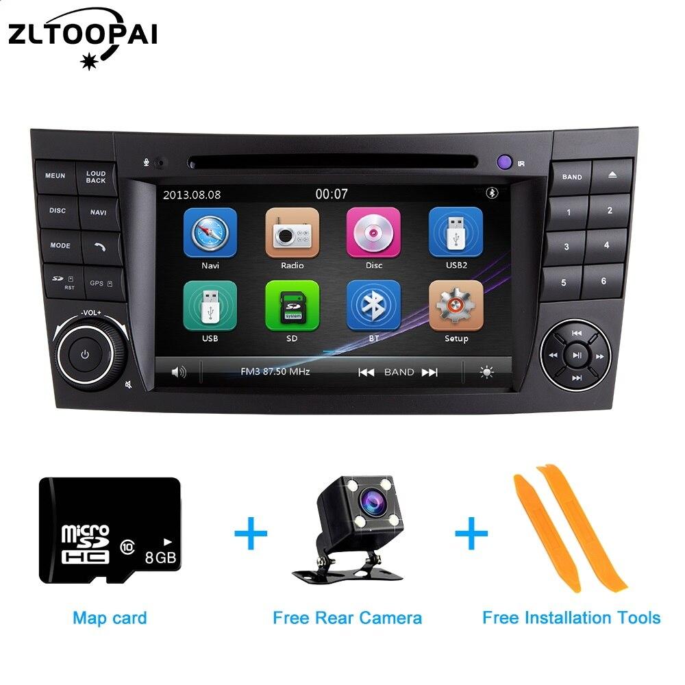 Reproductor Multimedia ZLTOOPAI para coche, reproductor de DVD automático para Mercedes Benz Clase E W211 E300 CLK W209 CLS W219, Radio GPS estéreo 2 Din