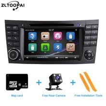 ZLTOOPAI lecteur DVD Auto multimédia   Pour Mercedes Benz classe E W211 E300 CLK W209 CLS W219, autoradio GPS stéréo 2 Din