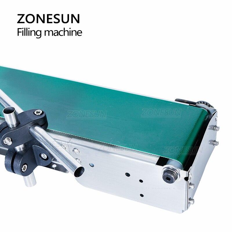 ZONESUN Automatic Filling Machine Liquid Perfume Bottle Water Oil Juice Single Head Filler With Conveyor Belt enlarge