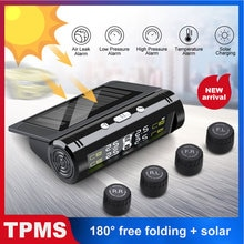 Solar Power TPMS Car Tire Pressure Alarm Monitor System Auto Security Alarm Systems Tyre Pressure Mo