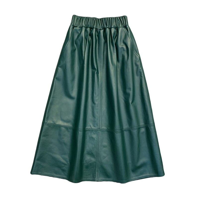 New Arrivals Women Long Leather Jacket Fashion Spring Autumn Skirts Lady Genuine Sheepskin TF8299