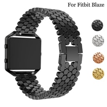 For Fitbit Blaze Metal Highend universal Wrist Band Alloy Fish scale jewelry buckle Replacement Watc