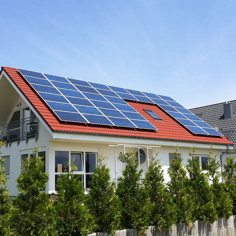 Panel Solar 330 w 2640w 3000w 3300w 3630w 4000w 24v Sistema Solar para casa 220v fuera de la red Sistema de granja Solar Panel Teja de techo Rv