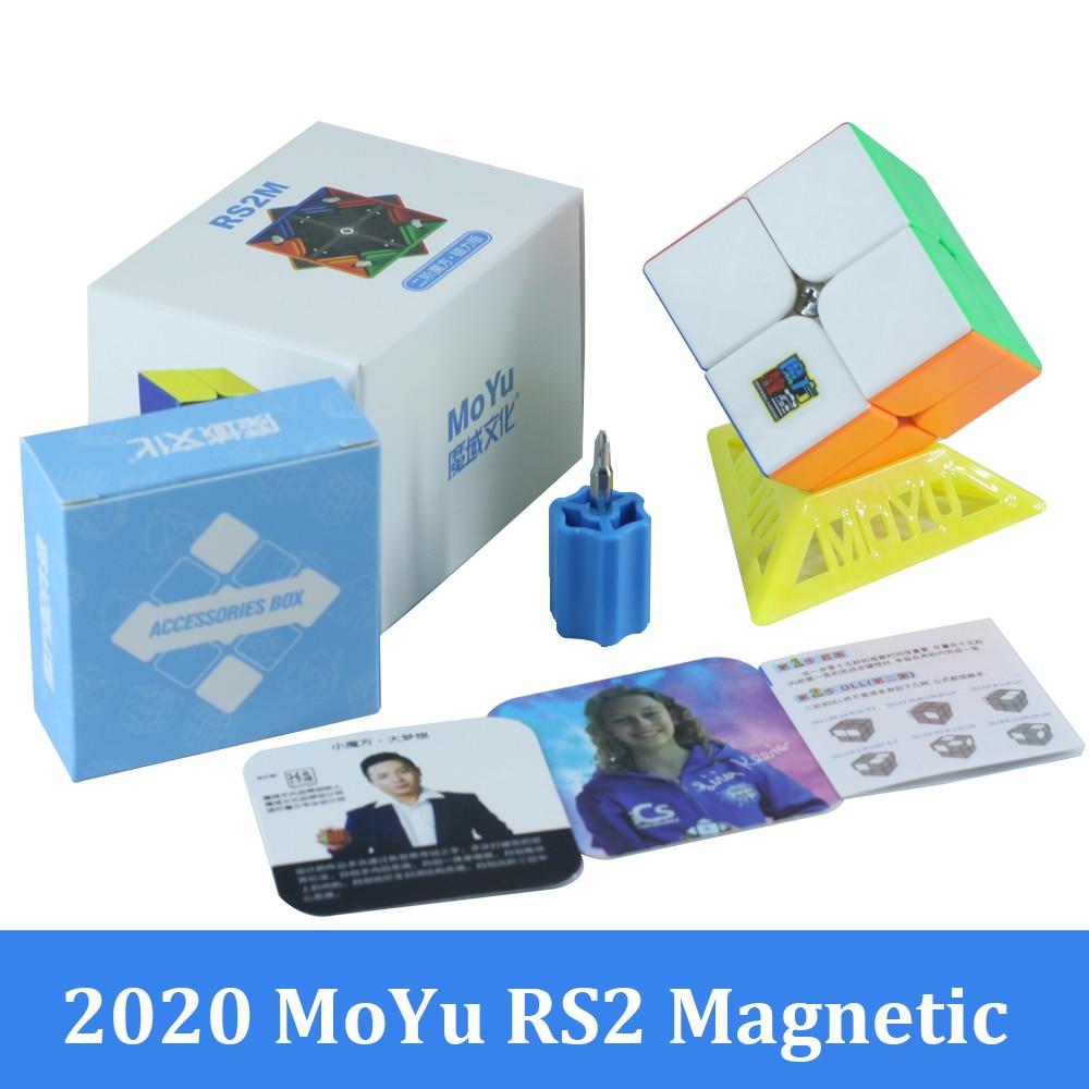 moyu rs2m rs3 m rs4 m magnetico 2x2 cubo magico 3x3 meilong quebra cabeca velocidade