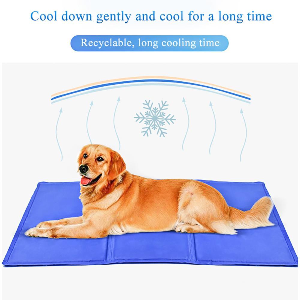 Alfombra para refrigeración de mascotas de 50x90cm para perros, manta para gatos, sofá, cojín de hielo de verano, colchón para cachorro de peluche, colchón fresco para mascotas, cojín para cama