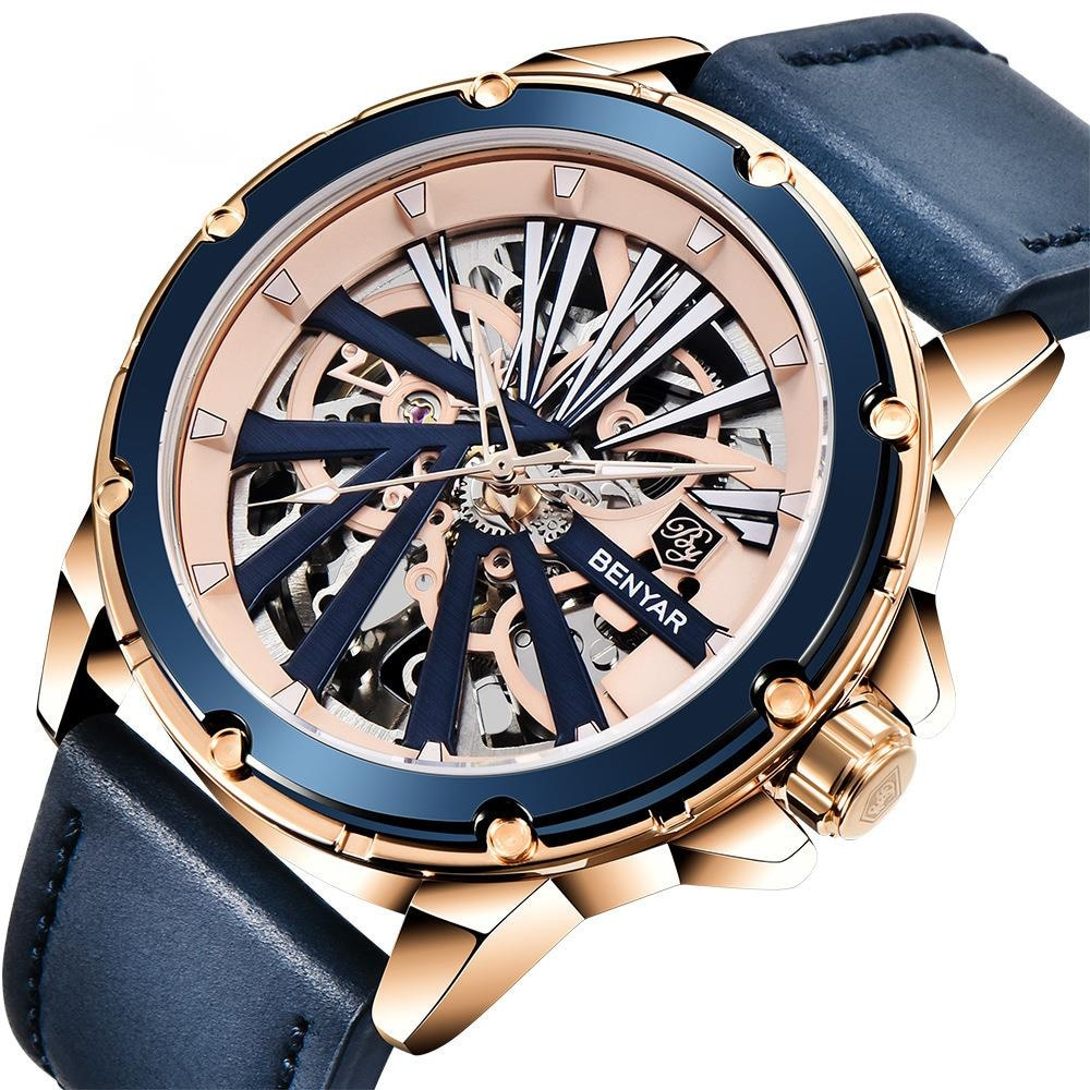 New Watch Men's Watch Fully Automatic Mechanical Watch Double-sided Hollow Men's Watch 5173 Fashion Hot