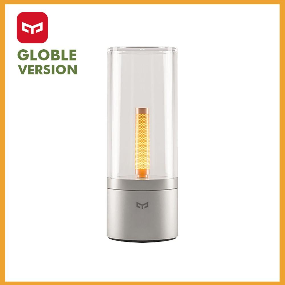 Yeelight Mijia lámpara de noche inalámbrica Mijia regulable Led elegante luz de vela romántica presente Aplicación control versión Global