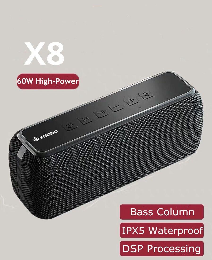 60 واط XDOBO X8 مضخم صوت لاسلكي مكبر صوت بخاصية البلوتوث قابل للنقل باس العمود TWS ستيريو مركز الموسيقى مكبر الصوت عالية الطاقة مكبرات الصوت
