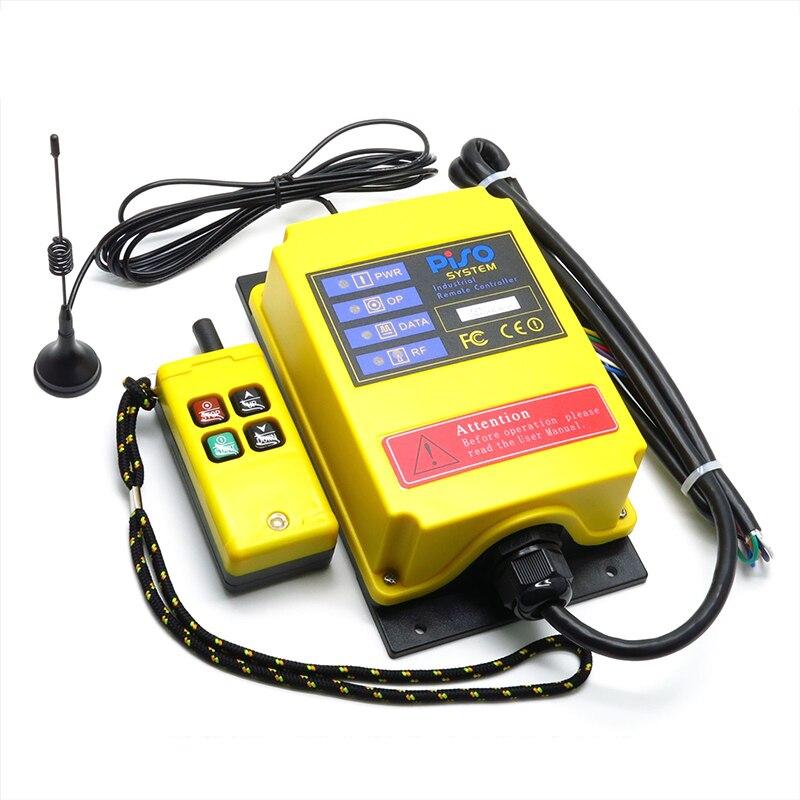 Interruptor de Controle Remoto sem Fio Industrial do Elevador de Controle 500m de Longa Remoto Distância F21-2s-y