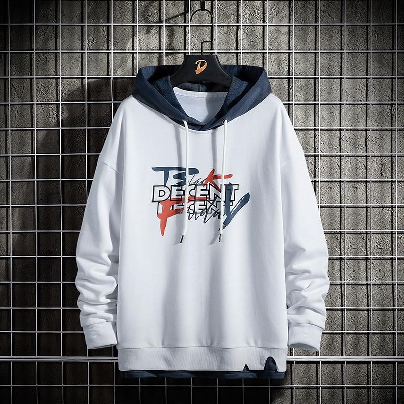 Men's Hoodies Printed Streetwear Casual Sweatshirts Fashion Hip Hop Hoodies Streetwear Clothes Korea