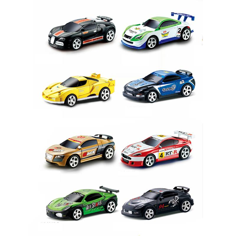 Sport R/C Racer Coke Can Car Mini Radio Remote Control Vehicle RC Micro Racing Toys Small Porket  2 Frequency Gifts for Children enlarge
