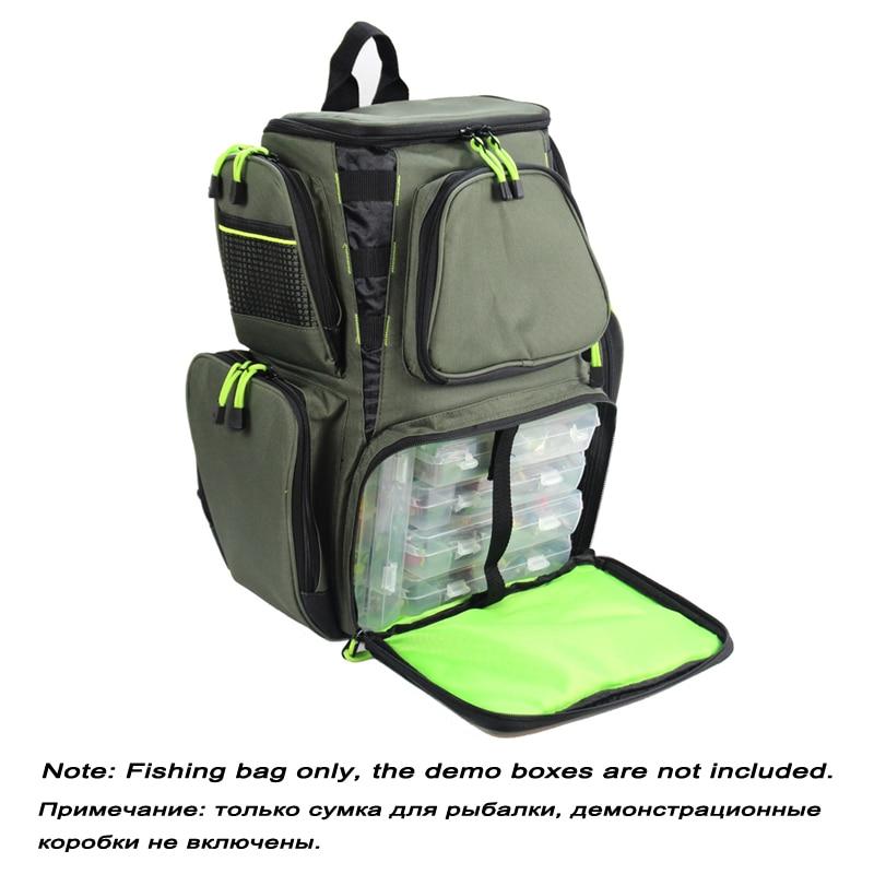 Fishing Bag  Large Capacity Multifunctional Bag Backpack Outdoor Fishing Tackle Bag 44*41*25 X663 enlarge