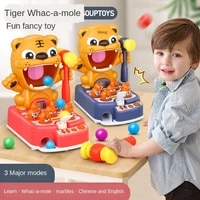 tiger with hammer sound light electric early education desktop percussion game christmas new year gifts toys age range