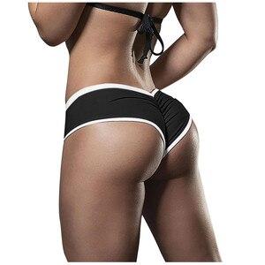 Ladies Solid High-waist Hip Stretch Underpants Running Fitness Yoga Shorts Sportswear Woman sportkleding dames Indoor Sport