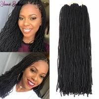sister locks dreadlocks hair extensions crochet braids dread locs crochet hair synthetic braiding hair for women red black brown