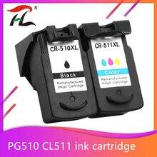Cartouche pour Canon PG 510 CL 511 PG510 CL511 Cartouches Dencre Pour Pixma MP250 IP2700 MP480 MP490 MP230 MP280 imprimante