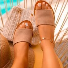 Loisirs de plein air tout-Match femmes plage femmes pantoufles printemps/été monocouche daim toile fond plat sandales antidérapantes