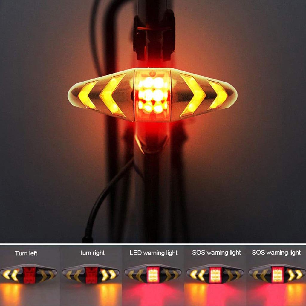 Luz trasera de bicicleta IPx6, a prueba de agua y Control remoto, intermitentes con luz trasera inalámbrica para bicicleta, iluminación de larga duración 2020