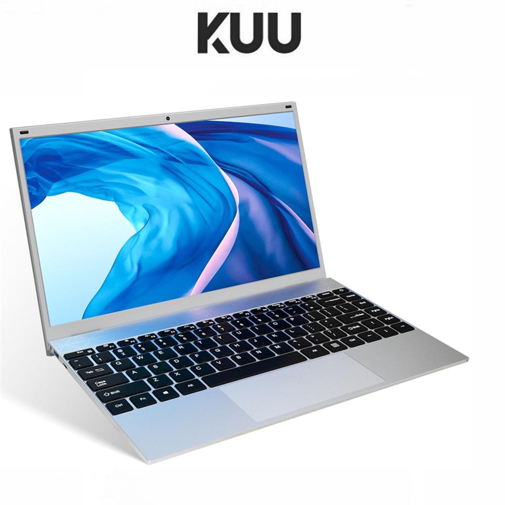 KUU 14.1 Inch 8GB DDR4 RAM 256G 512G SSD Windows 10 laptop Intel J4115 Quad core Keyboard Student Notebook