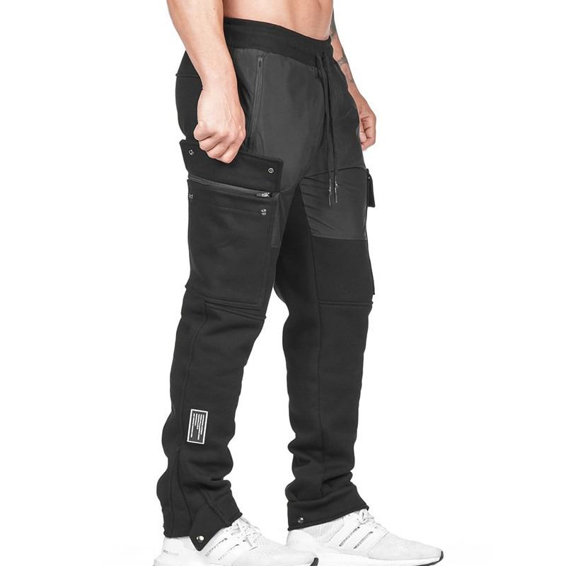 брюки штаны мужские штаны в клетку мужская одежда Брюки мужские спортивные однотонные, свободные прямые повседневные штаны для фитнеса, дл...