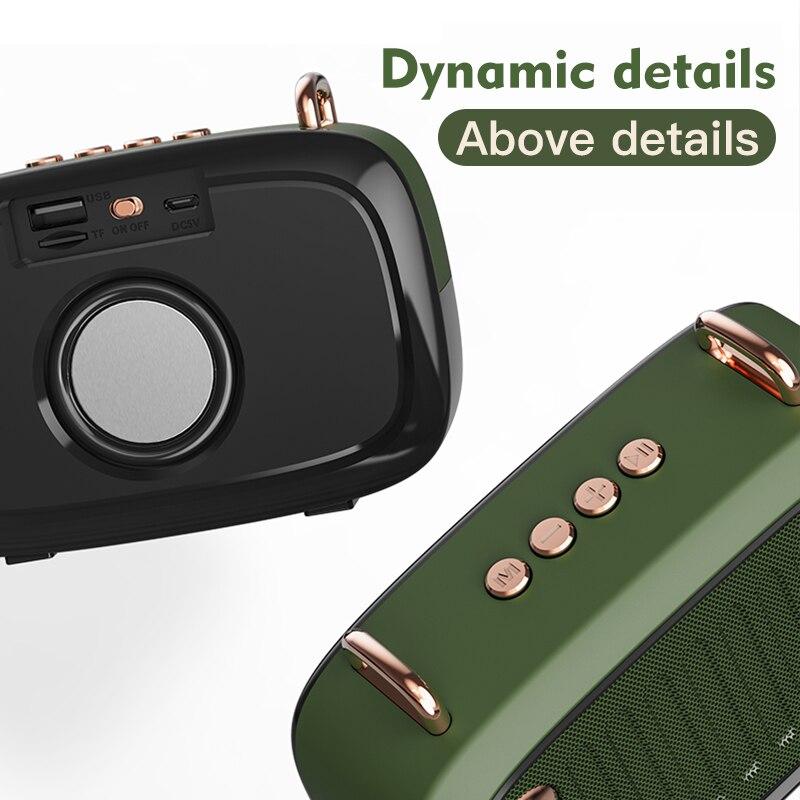 Bluetooth V5.0 Speaker Long Worktime Outdoor Loudspeaker Support TF Card/U Disk/FM Wireless Subwoofer enlarge