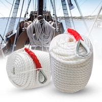 carbole twisted anchor rope 34 inch 200 feet white line nylon three strand dockline braided anchor rope sail boat line 12592lb
