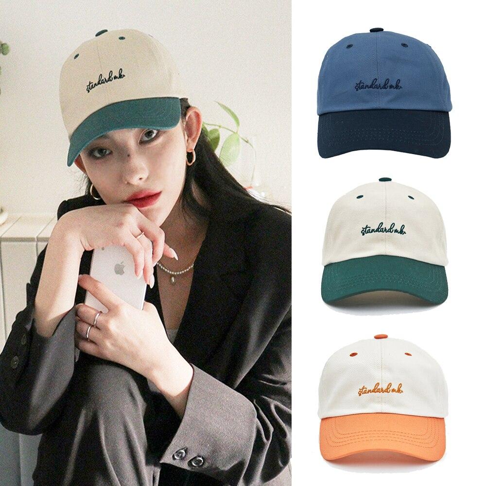 Женская летняя шапка, новинка в Корейском стиле, Мужская бейсболка с цветовой вышивкой, популярные мужские кепки, Женская Бейсболка в стиле ...
