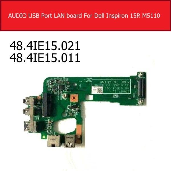 Placa de porta de energia para dell, inspiron 15r m5110 áudio usb placa de rede ethernet usb 3.0 placa jack 48.4ie15. 021 48.4ie15. 011
