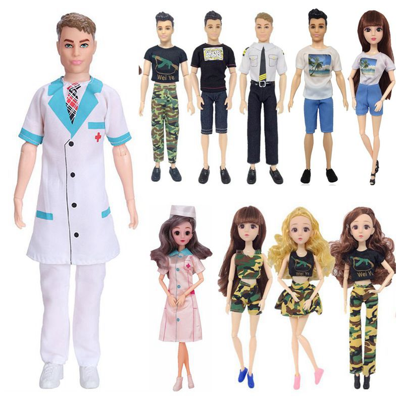 Ken-ropa de muñeca para Barbie, juguetes para niños y niñas, 10 artículos/lote...