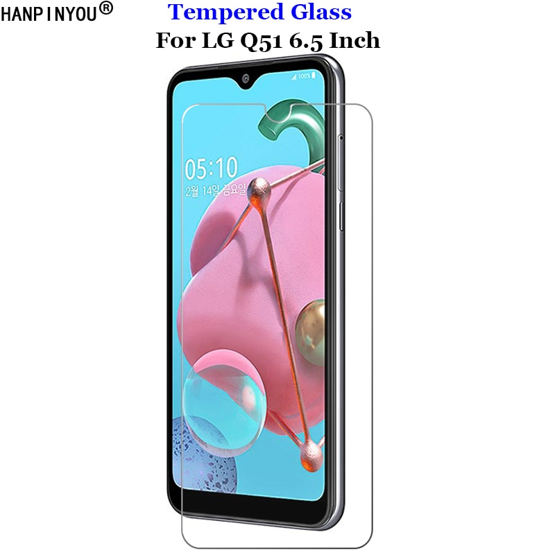 For LG Q 51 Tempered Glass 9H 2.5D Premium Screen Protector Portective Skin Film For LG Q51 6.5