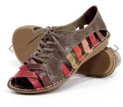 Sandalias de verano para mujer, sandalias romanas con punta abierta, sandalias de gladiador para mujer, sandalias casuales de encaje para mujer