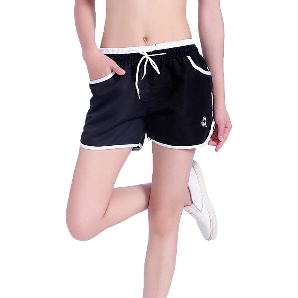 Verano de las mujeres de Yoga short Color puro pantalones damas deporte entrenamiento Fitness ropa para trotar L/XL