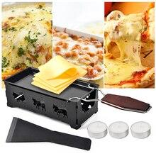 Raclette de fromage en métal antiadhésif   Poêle à cuisson, plaque de gril, plateau de cuisson, cadre de cuisinière, spatule, outil de cuisson de cuisine