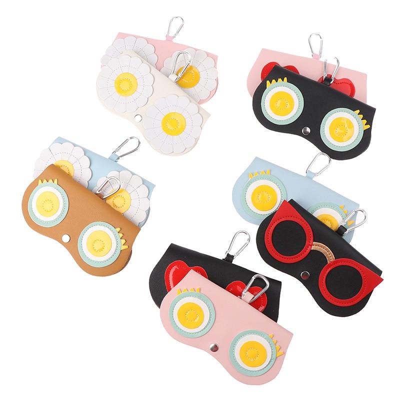 Animal Cartoon Women Portable Case PU Leather Sun Eye Glasses Box For Eyeglass Sunglasses Cute Protection Bag
