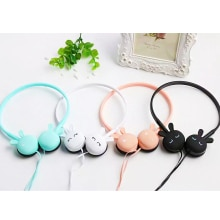 Cute Cartoon Wired Headphone With Microphone Girl Daugther Music Stereo Earphone Computer Mobile Pho