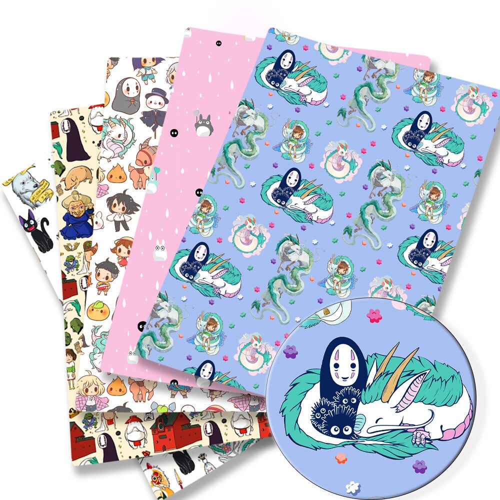 140x50CM ghibli DIY Totoro Cartoon Polyester cotton Fabric Patchwork Tissue Kid Home Textile Sewing Doll Dress Curtain