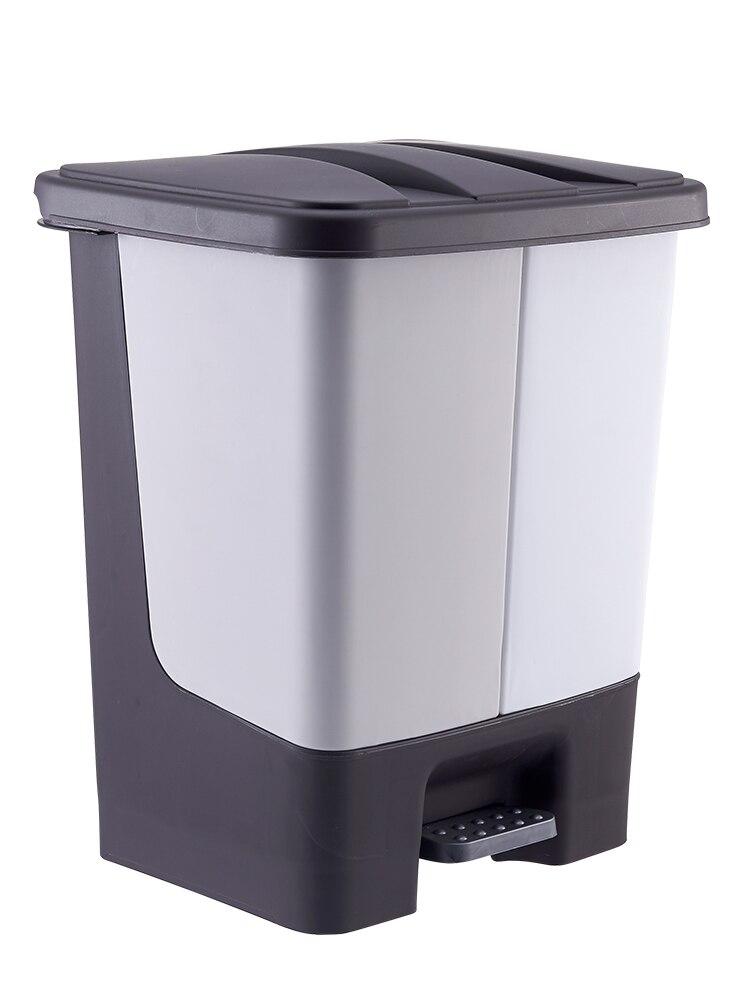 Nordic Rectangle Trash Can Modern Recycling Bins Plastic Trash Bin Kitchen Garbage Sorting Rangement Cuisine Bins BK50LJ enlarge