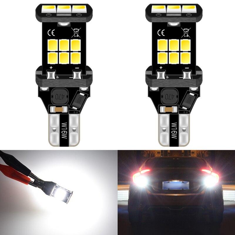 2 uds T15 W16W Led Luz de reversa para coche bombilla para Nissan Juke 2018 2011 Pathfinder Hyundai Sonata Tucson acento ix35 i20 i40 912 lámpara