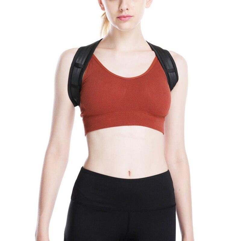 Ajustable soporte, Cinturón de sujeción Anti-joroba Corrector de postura de espalda transpirable clavícula columna vertebral corrección de postura Lumbar
