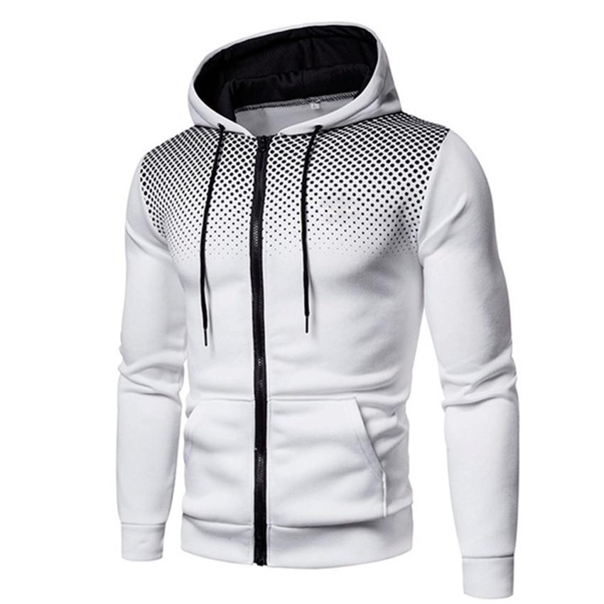 Men Jackets Hoodies Coats Casual Zipper Sweatshirts Male Tracksuit Fashion Jacket Mens Clothing Winter Add Wool Hoodie