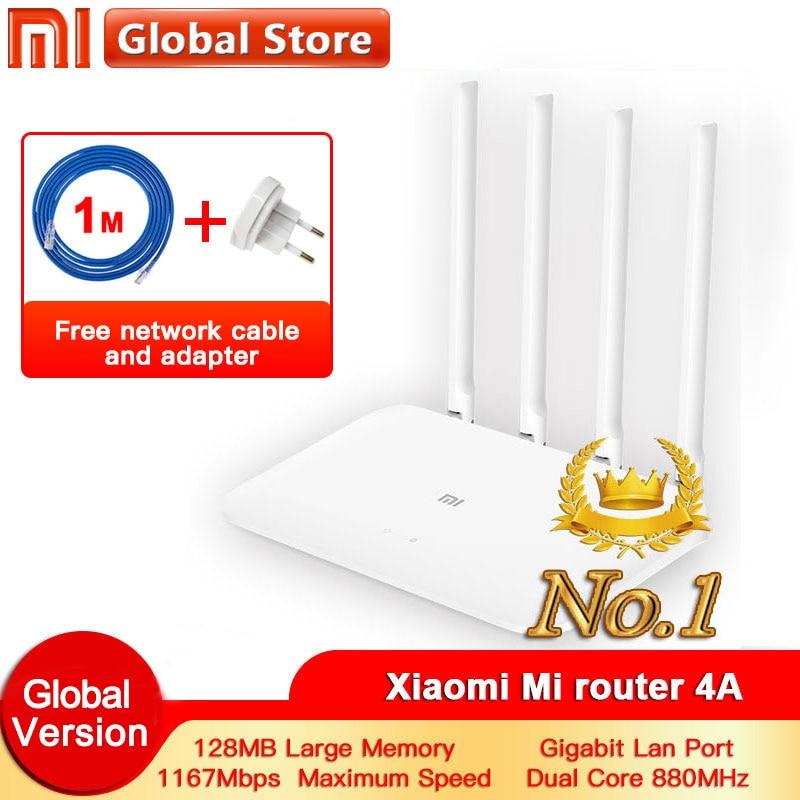Xiaomi 4A Router Gigabit edition 2.4GHz +5GHz WiFi DDR3 High Gain 4 Antenna APP Control Mi router 4A WiFi Repeat Xiaomi Router